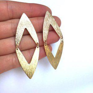 Large Diamond Geometric post Earrings